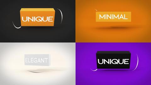 Fast And Simple Cube Logo Reveal モーショングラフィックステンプレート