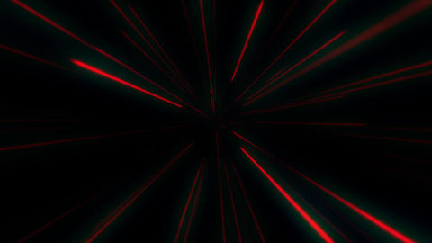 Abstract Space Travel motion background. Red Star field pattern warp motion.Abstract Wormhole Tunnel Animation