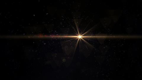Digital lens flare in black background horizontal frame... Stock Video Footage