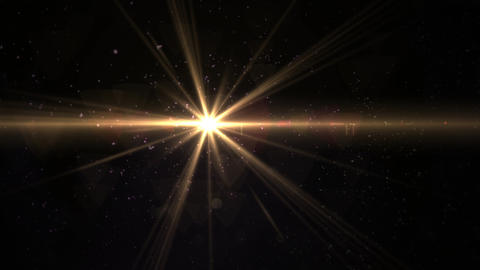 Digital lens flare in black background horizontal frame warm.Modern natural flare effect.Sunlight in Animation