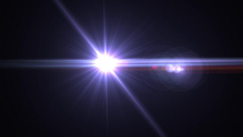White Abstract lens flare light over black background.sun burst on black Animation