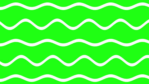 Abstract white lines wavy with green background motion alpha video.Green wave with line Animation