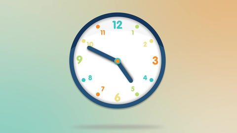 Animated clock counting down 12 hours over 30 seconds. Seamlessly loops. Time la Animation