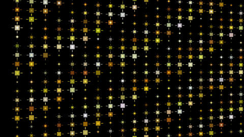 Gold glitter pattern motion background video.Square blink... Stock Video Footage