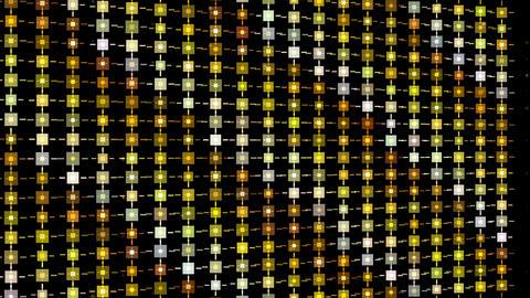Gold glitter pattern motion background video.Square blink…, Stock Animation