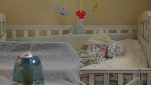 Humidifier Baby Sleeping Footage