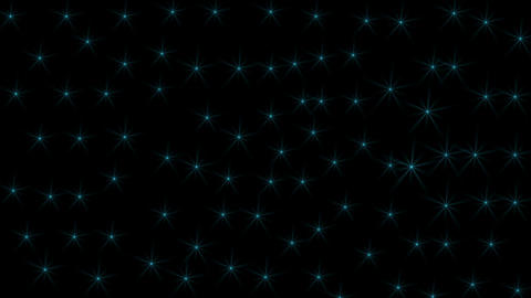 Sparkling blue star on space motion video. Glowing light flare star effect.Glittering stars on space Footage