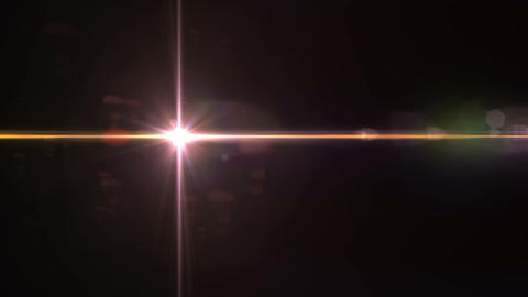 Lighting Abstract with digital lens flare motion.Digital Lens flare on black background HD video Live Action