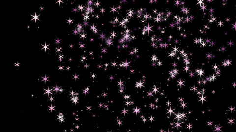 Sparkling beautiful stars glow on sky motion video background.Stars flow on space Animation