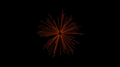2D cartoon firework effect on black background motion video Animation