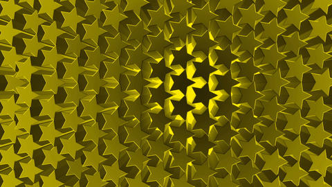 3d golden Stars pattern background texture motion video. 3d render star moving Footage