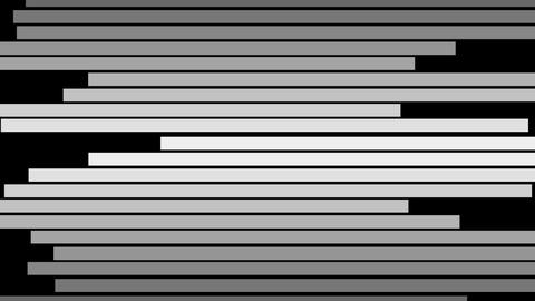 Abstract black and white lines moving on horizontal motion background Animation