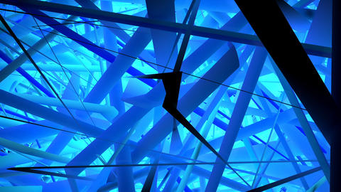 Abstract blue 3d shapes motion.Modern 3d animation lines technology concept Animation