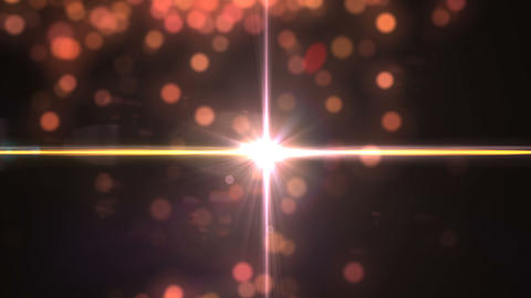 Gold abstract bokeh and digital lens flare effect background.Dust particles with lens flare. glitter Animation