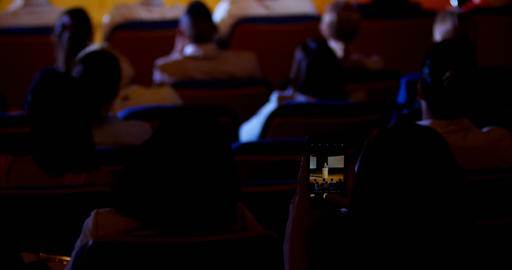 Businesswoman recording lecture during business seminar in auditorium 4k Live Action
