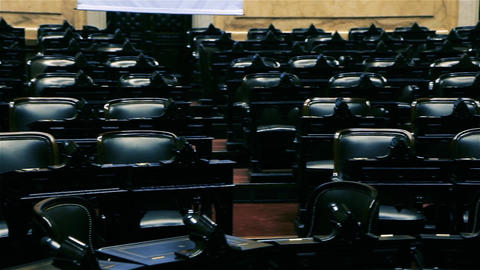 Empty Chairs Of An Auditorium In A Congress Live Action