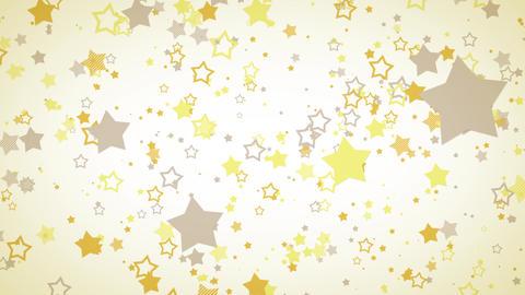 ゆっくり接近するホップな星エフェクト-イエロー/白背景 CG動画