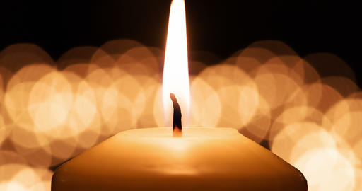 Candle with Flickering Background 4K Footage