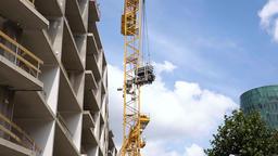 Construction Crane Lowering Construction Materials Live Action