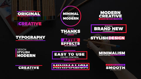 Colorful Titles After Effects Template