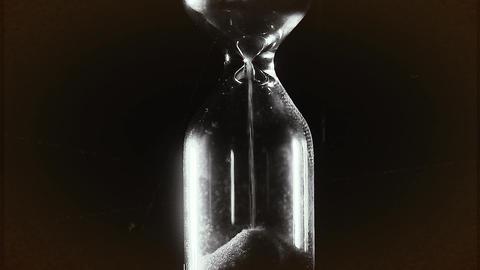 Hourglass. Countdown. Slow motion Archivo