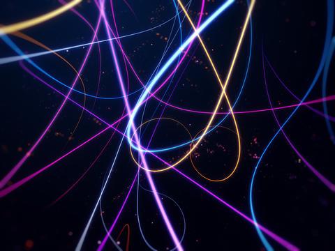 Colorful lights streak background Fotografía