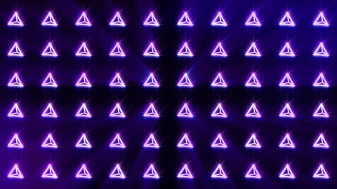 Geometric blue pyramid pattern. Pyramid dancing. Business symbol loop animation. Business network Animation