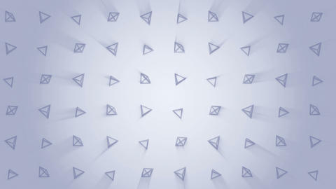 Geometric gray pyramid pattern. Pyramid dancing. Business symbol loop animation. Business network Animation