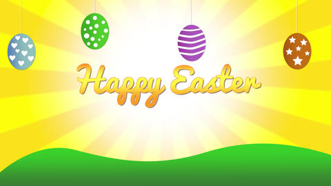 Happy Easter Background Animation