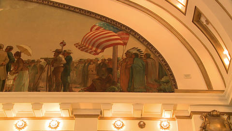 Arch painting of the Transcontinental Railroad ceremony Live Action