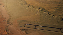 Aerial shot of Moab Desert in Utah Footage