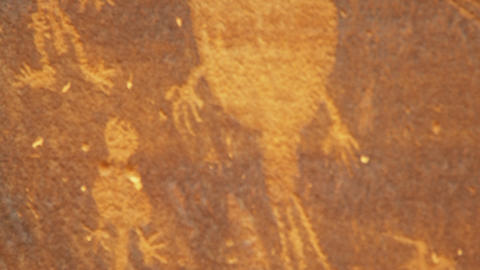 Close-up of ancient drawings on rocks Footage