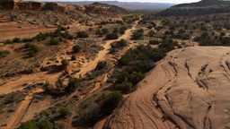 Aerial shot of the Moab Desert in Utah Footage