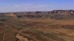 Panning shot of valley in Moab, Utah Footage