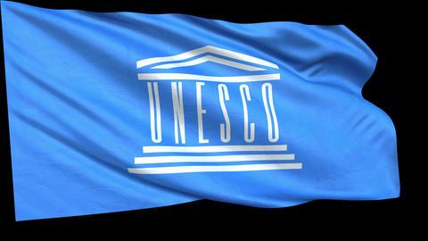 FLAG-UNESCO-loop alfa Animation