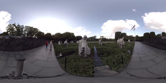 Korean War Veterans Memorial, Washington, D.C. - 360° VR VR 360° Video