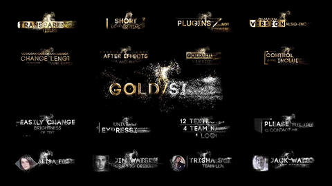 Gold & Silver Titles After Effects Template
