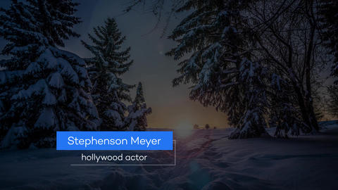 Lower Thirds in Winter After Effects Template