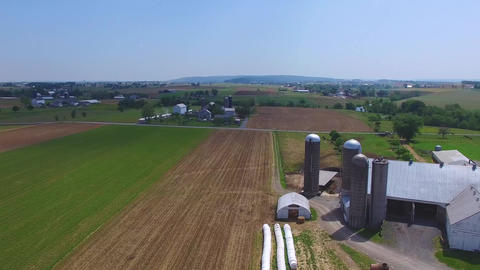 Amish Farm Countryside, Farm by Drone Live Action