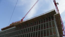 Concrete Construction Framing and Construction Crane Live Action