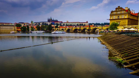 Charles Bridge is a famous city located in the capital of the Czech Republic Live Action