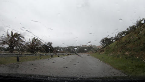 Hyper Lapse of driving car in a rainy day Live Action