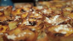 Portuguese pasteis de nata custard tart Footage