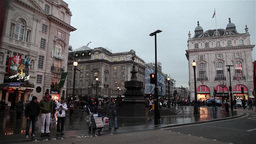 Bus passing by Piccadilly Circus Footage