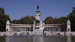buen retiro park madrid spain Footage