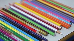 color pencil aligned Footage