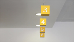 Cubes with numbers to identify secretaries Footage