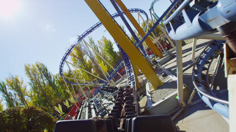 First person view on a roller coaster Footage