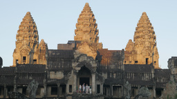Angkor Wat in early morning from south ,Siem Reap,Cambodia Footage