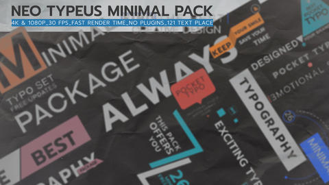 Neo Typeus minimal Pack I After Effects Template